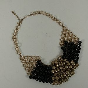 Lani black and gold bead necklace 0308